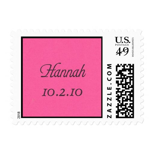 Hannah 10.2.10 postage stamp