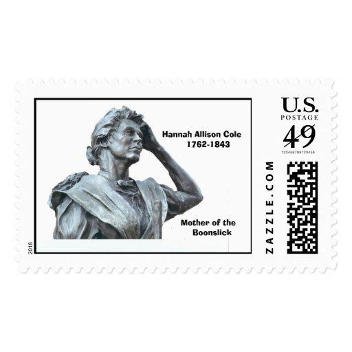 Hannah Allison Cole      1762-1843 Stamp