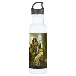 Hannah and Simeon in the temple by Rembrandt 24oz Water Bottle