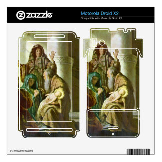 Hannah and Simeon in the temple by Rembrandt Motorola Droid X2 Skin