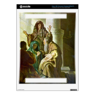 Hannah and Simeon in the temple by Rembrandt Xbox 360 Console Skin