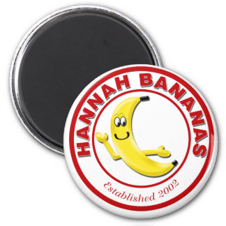 Hannah Bananas 2 Inch Round Magnet
