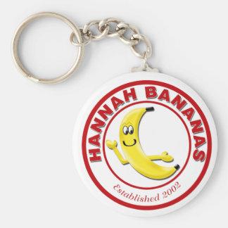 Hannah Bananas Basic Round Button Keychain
