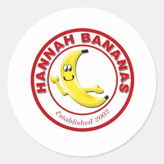 Hannah Bananas Classic Round Sticker