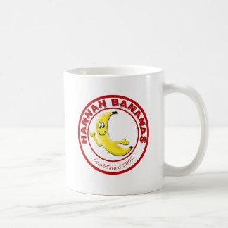 Hannah Bananas Classic White Coffee Mug