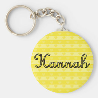 Hannah Basic Round Button Keychain