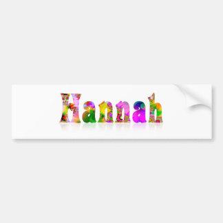 Hannah Bumper Sticker