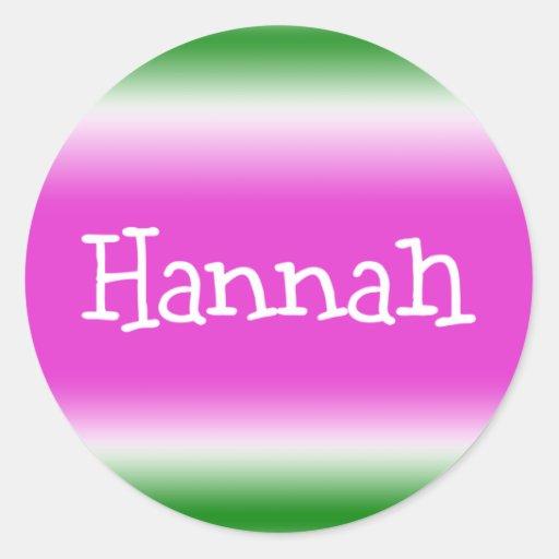 Hannah Classic Round Sticker