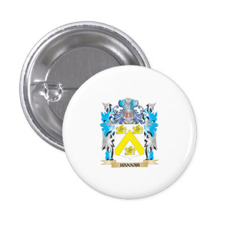Hannah Coat of Arms - Family Crest Buttons
