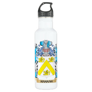 Hannah Coat of Arms - Family Crest 24oz Water Bottle
