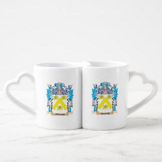 Hannah Coat of Arms - Family Crest Couples' Coffee Mug Set