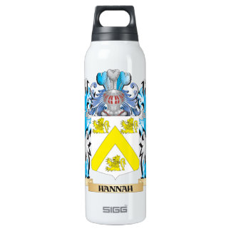 Hannah Coat of Arms - Family Crest 16 Oz Insulated SIGG Thermos Water Bottle