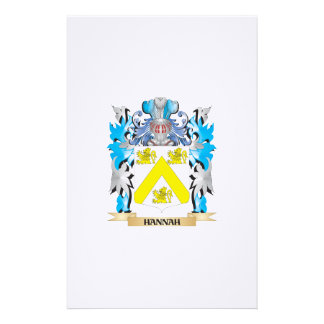 Hannah Coat of Arms - Family Crest Stationery