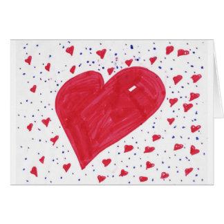 Hannah-corazón Felicitación