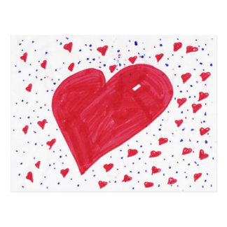 Hannah-corazón Postal