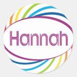 Hannah Etiqueta Redonda