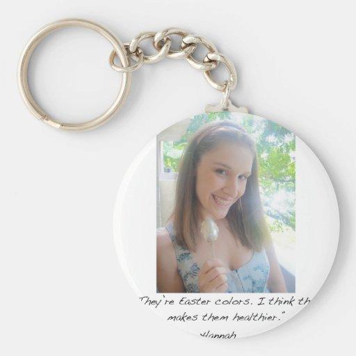 Hannah for zazzle basic round button keychain