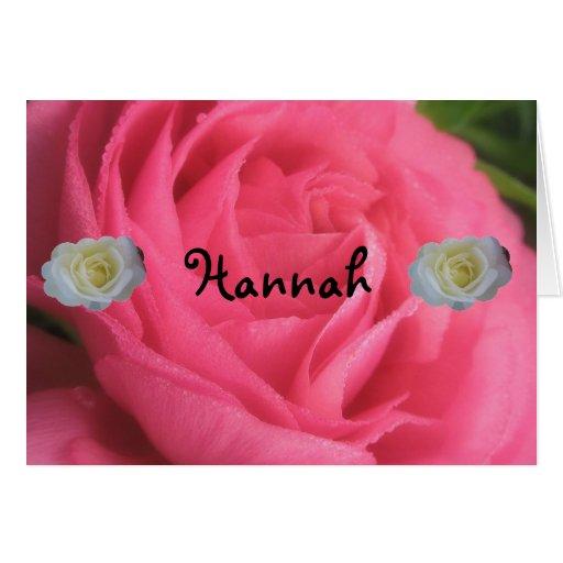 Hannah Greeting Card