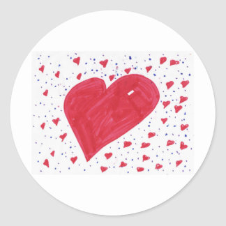 hannah-heart classic round sticker