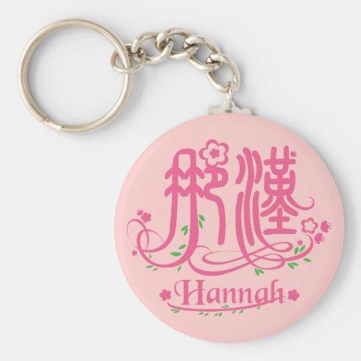 Hannah - llavero conocido del kanji
