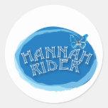 Hannah Logo.ai Round Sticker