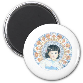 Hannah 2 Inch Round Magnet