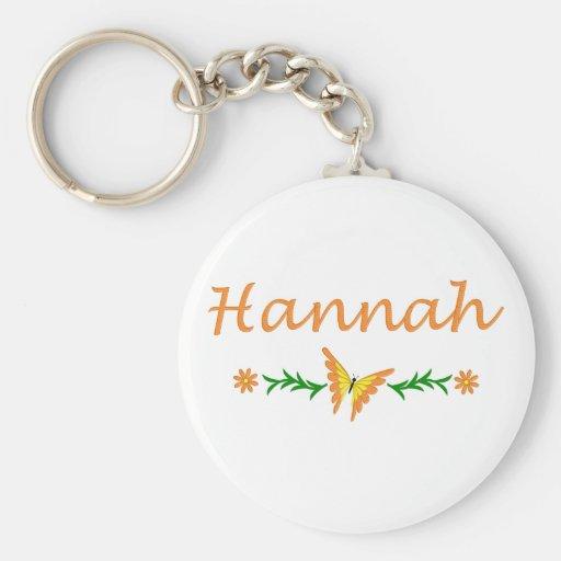 Hannah (mariposa anaranjada) llavero redondo tipo pin