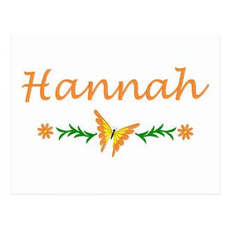 Hannah (mariposa anaranjada) postales