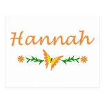 Hannah (mariposa anaranjada) tarjetas postales