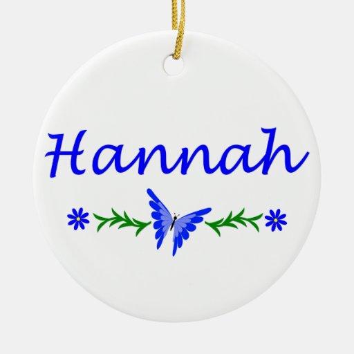 Hannah (mariposa azul) adorno redondo de cerámica
