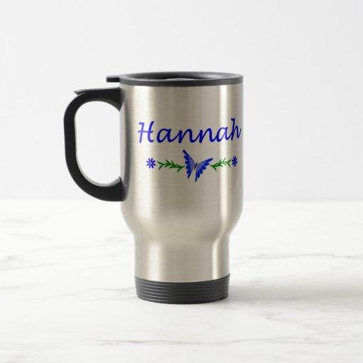 Hannah (mariposa azul) tazas