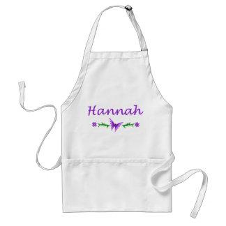 Hannah (mariposa púrpura) delantal
