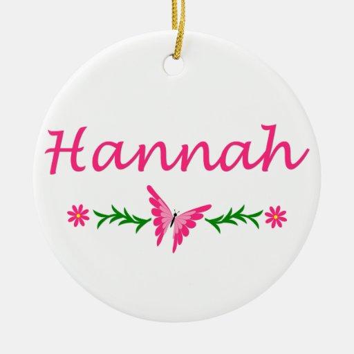 Hannah (mariposa rosada) ornamentos para reyes magos