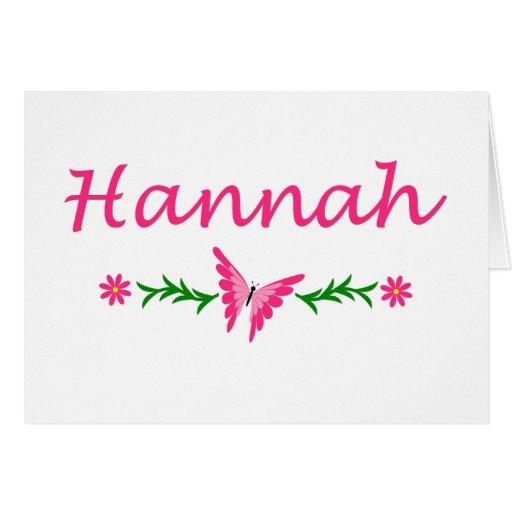Hannah (mariposa rosada) felicitacion