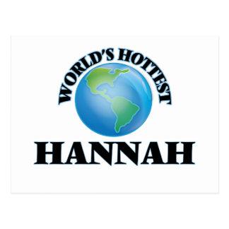 Hannah más caliente del mundo tarjeta postal