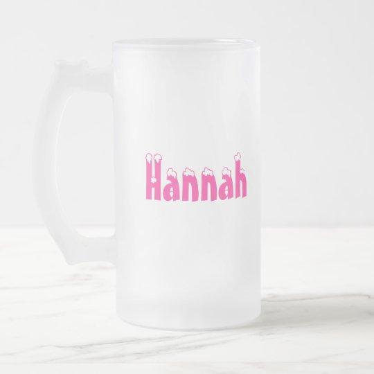 Hannah-Name Style-Frosted Mug