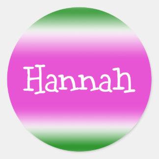 Hannah Pegatina Redonda