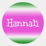 Hannah Pegatinas Redondas