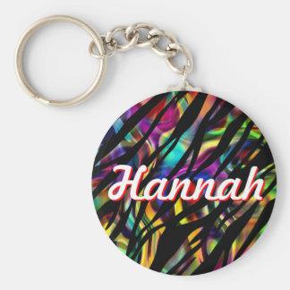 Hannah personalizó llavero colorido