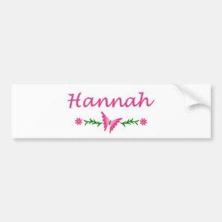 Hannah (Pink Butterfly) Bumper Sticker