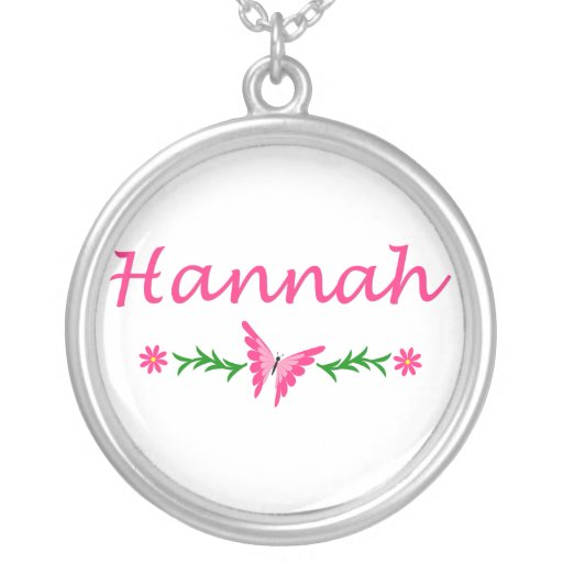 Hannah (Pink Butterfly) Custom Necklace