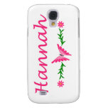 Hannah (Pink Butterfly) Samsung Galaxy S4 Case