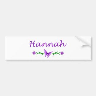 Hannah (Purple Butterfly) Bumper Sticker