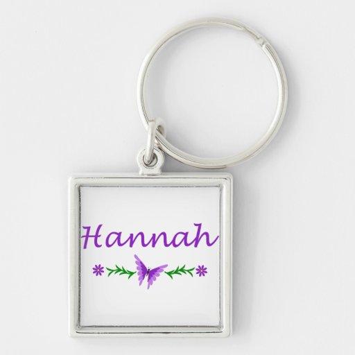Hannah (Purple Butterfly) Keychain