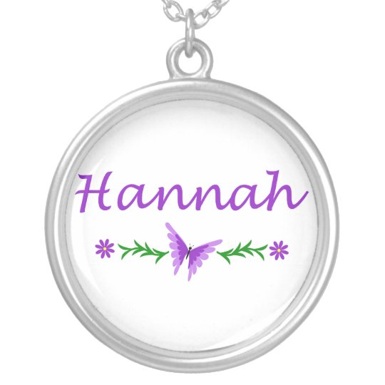 Hannah (Purple Butterfly) Silver Plated Necklace