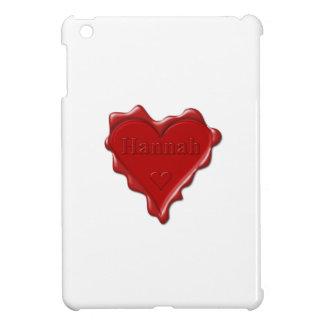 Hannah. Red heart wax seal with name Hannah iPad Mini Covers