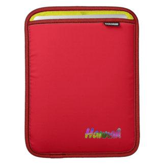 Hannah red Rickshaw iPad sleeve