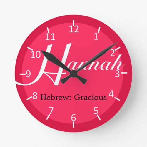 Hannah Strawberry Two-Toned Round Clock