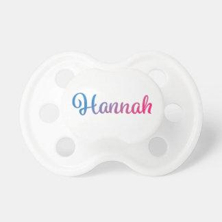 Hannah Stylish Cursive Pacifier