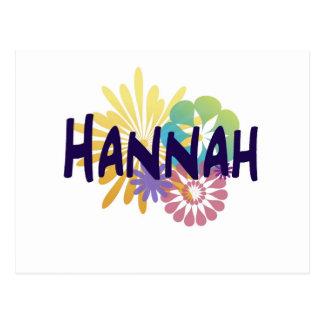 Hannah Tarjetas Postales
